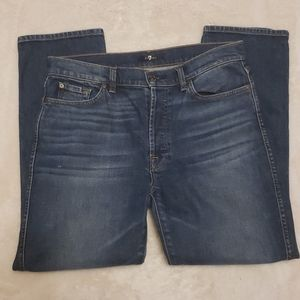 7 FOR ALL MANKIND Straight Blue Jeans 31